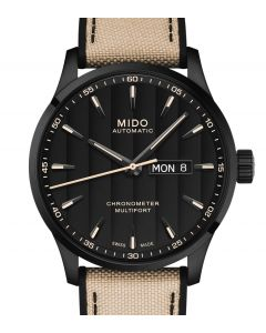 Multifort Chronometer 1 Black Leather Beige