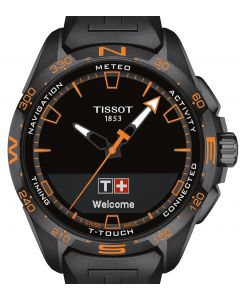Tissot T-Touch Connect Solar Black-Orange Rubber Black T121.420.47.051.04