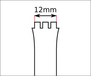 Swatch 12 mm Ansatz