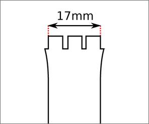 Swatch 17 mm Ansatz