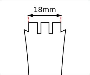 Swatch Irony XLite strap width