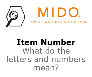 Mido Item Number