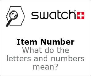 Swatch Item Number